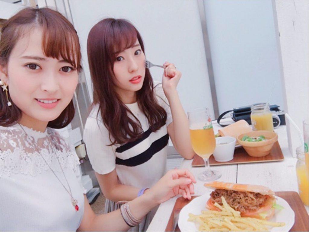 藤江れいな 高松恵理 6年ぶりに一緒にご飯行けた大好きな人